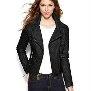 Bar III Asymmetrical Quilted Moto Jacket